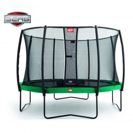 BERG Trampolina Champion Green 430 cm siatka Deluxe Twinspring Gold + BIG Ogrodowa Fontanna Gratis